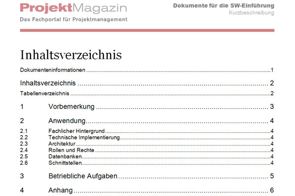 Word Projekt Magazin