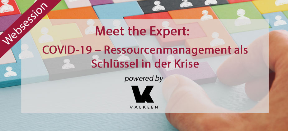 Websession: COVID-19 – Ressourcenmanagement als Schlüssel in der Krise